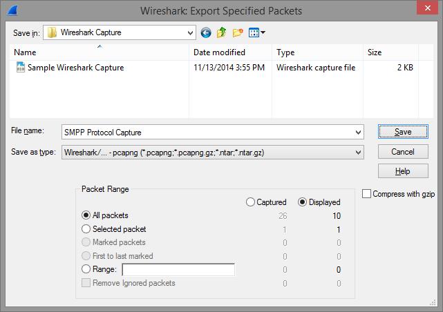 Wireshark export as screenshot